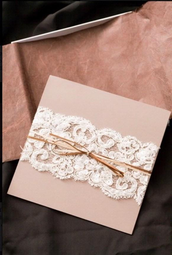 Best ideas about Cheap DIY Wedding Invitations . Save or Pin DIY Lace Wedding Invitation ♥ Cheap Wedding Invitation Now.