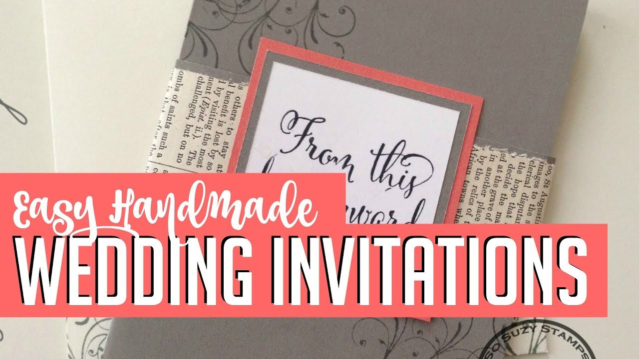 Best ideas about Cheap DIY Wedding Invitations . Save or Pin Easy DIY Handmade Wedding Invitations How to Now.