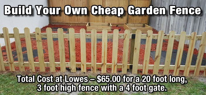 Best ideas about Cheap Fence DIY . Save or Pin How to Build a Cheap DIY Garden Fence Now.