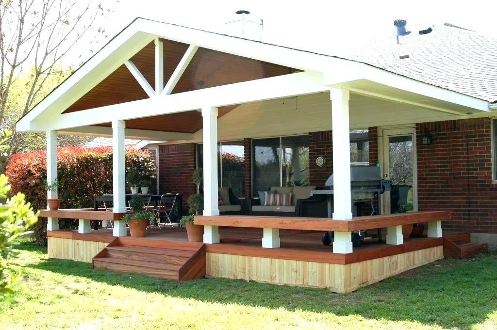 Best ideas about Cheap Patio Cover Ideas . Save or Pin Back Porch Cover Ed Front Ideas Patio Inexpensive Roof Now.