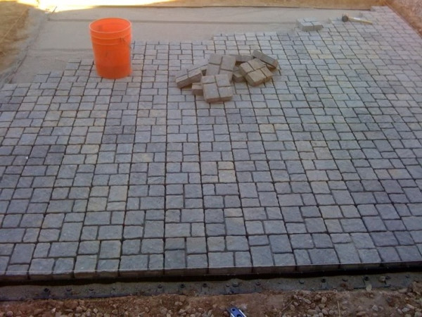 Best ideas about Cheap Patio Pavers . Save or Pin My DIY Paver Patio The Cheap Landscaping & Lawn Now.