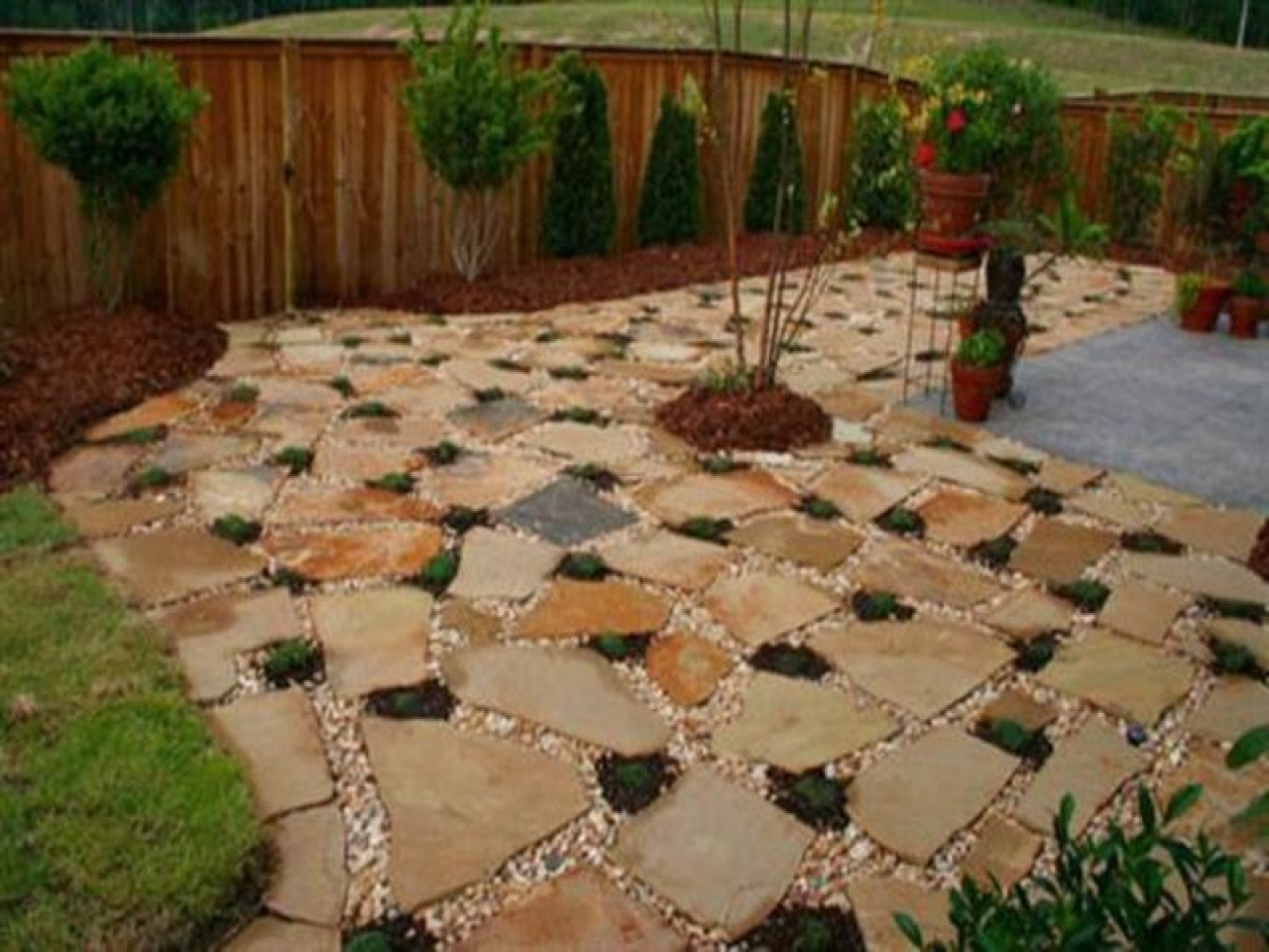 Best ideas about Cheap Patio Pavers . Save or Pin Stone patio design cheap stone patio ideas inexpensive Now.