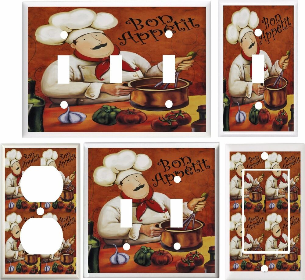 Best ideas about Chefs Kitchen Decor . Save or Pin FAT CHEF KITCHEN DECOR LIGHT SWITCH COVER PLATE OR OUTLET Now.