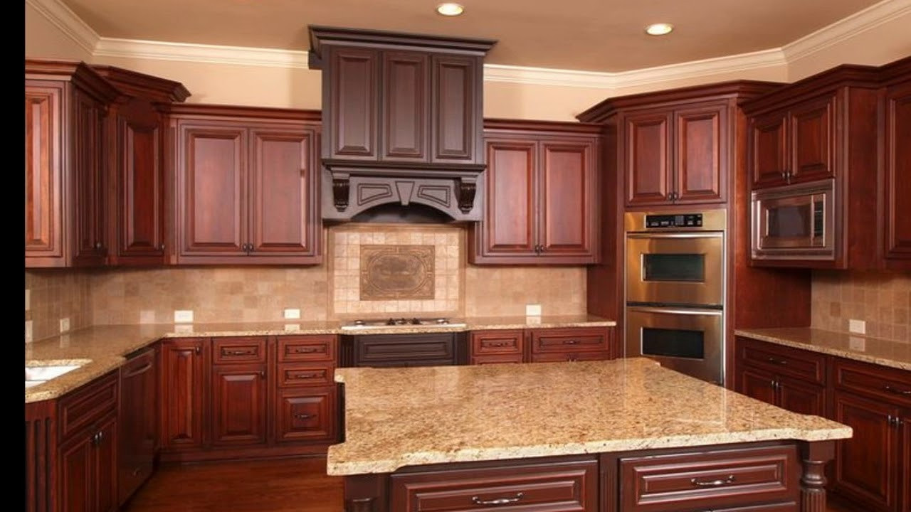 Best ideas about Cherry Cabinet Kitchen Ideas . Save or Pin Kitchen Backsplash Ideas With Cherry Cabinets Now.