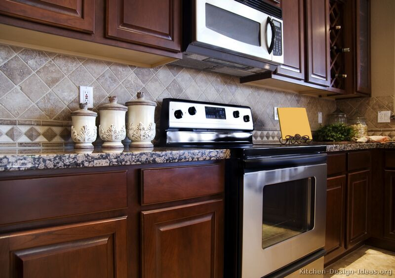Best ideas about Cherry Cabinet Kitchen Ideas . Save or Pin of Kitchens Traditional Dark Wood Kitchens Now.