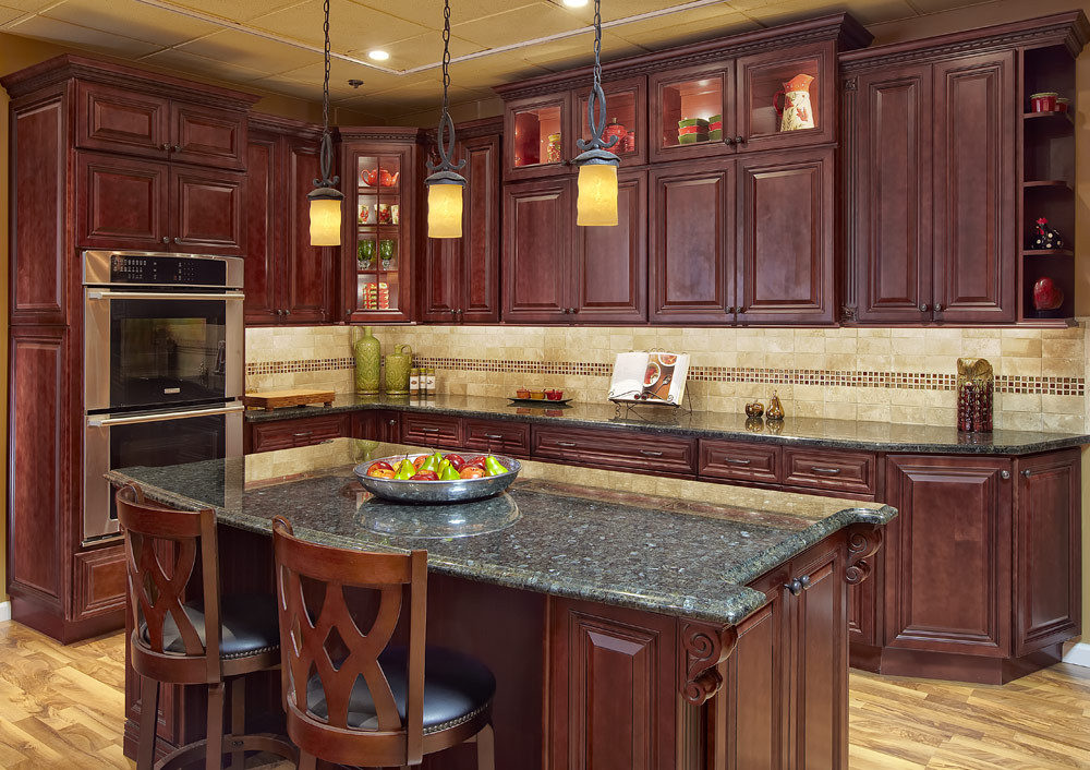 Best ideas about Cherry Cabinet Kitchen Ideas . Save or Pin Kitchen Image Kitchen & Bathroom Design Center Now.