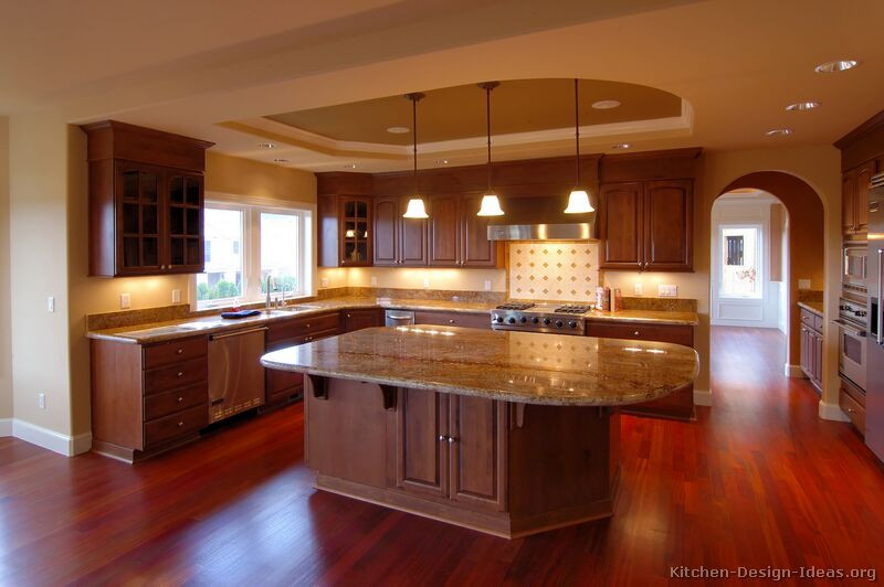 Best ideas about Cherry Cabinet Kitchen Ideas . Save or Pin Luxury Kitchen Design Ideas and Now.