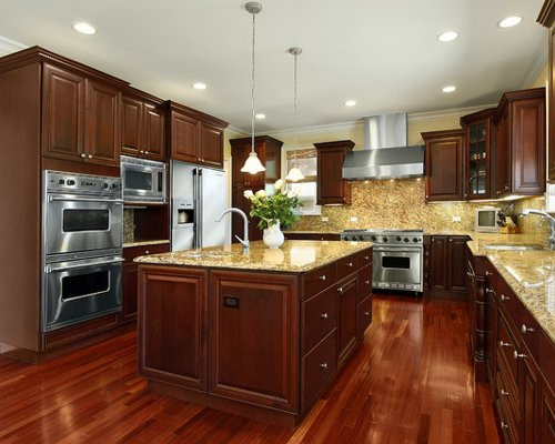 Best ideas about Cherry Cabinet Kitchen Ideas . Save or Pin Cherry Kitchen Cabinets Home Design Ideas Now.