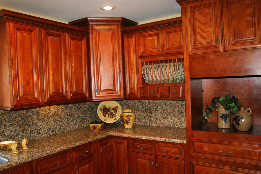 Best ideas about Cherry Cabinet Kitchen Ideas . Save or Pin Kitchen and Bath Cabinets Vanities Home Decor Design Ideas Now.