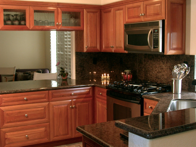 Best ideas about Cherry Cabinet Kitchen Ideas . Save or Pin Natural Cherry Wood Kitchen Cabinetry Traditional Now.