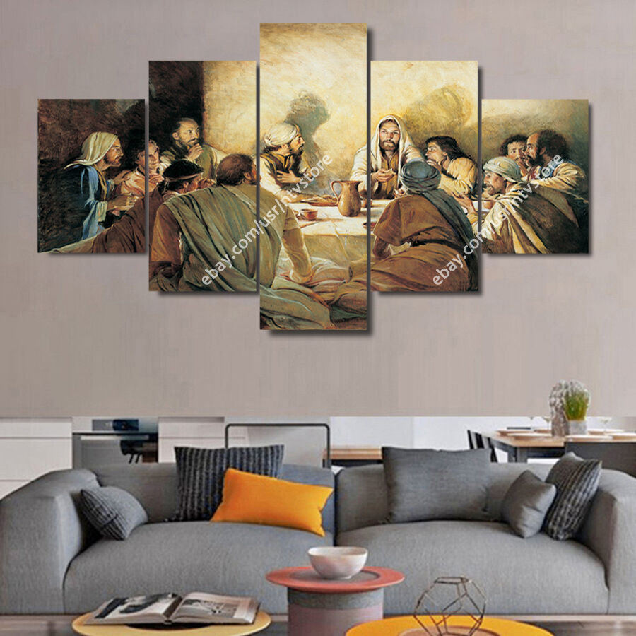 Best ideas about Christian Wall Art . Save or Pin Jesus Christ Wall Art Framed Canvas Print The Last Supper Now.