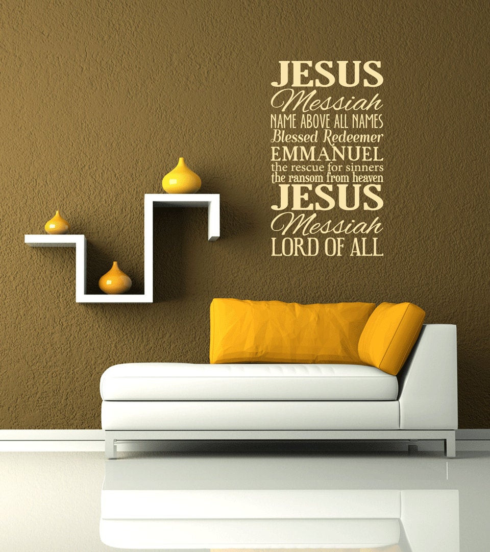 Best ideas about Christian Wall Art . Save or Pin Names of Jesus Removable Vinyl Wall Art Christian wall decal Now.