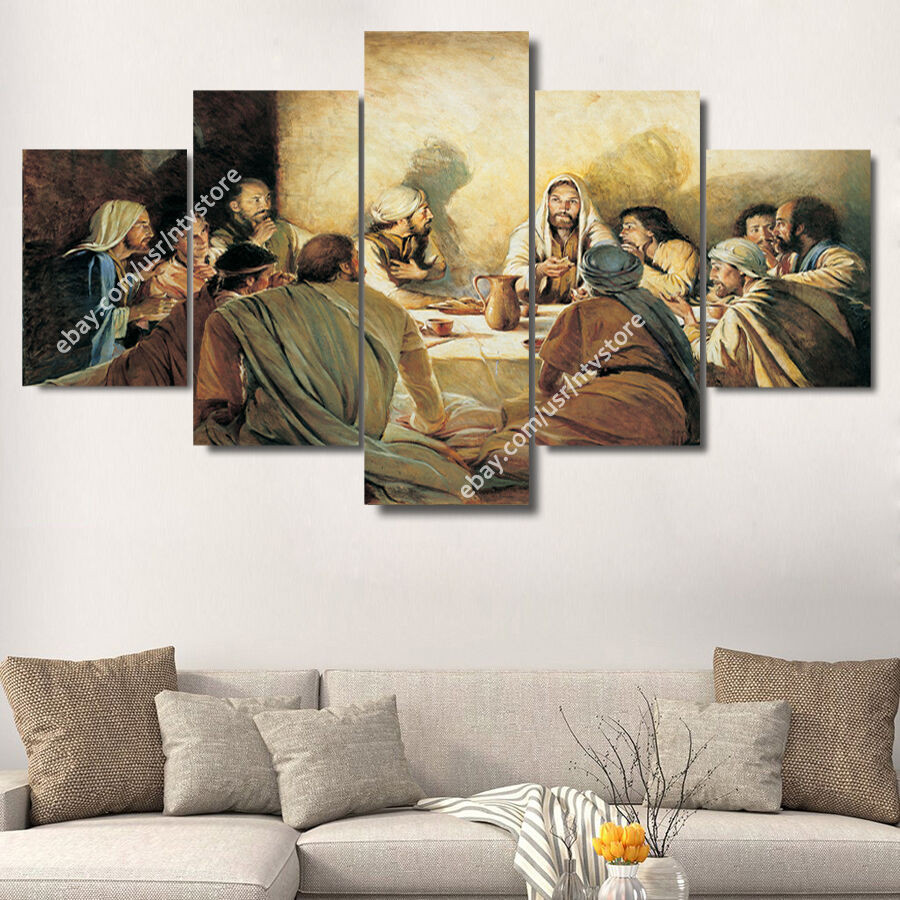 Best ideas about Christian Wall Art . Save or Pin Jesus Christ & Apostles Painting Wall Art Canvas Print Now.