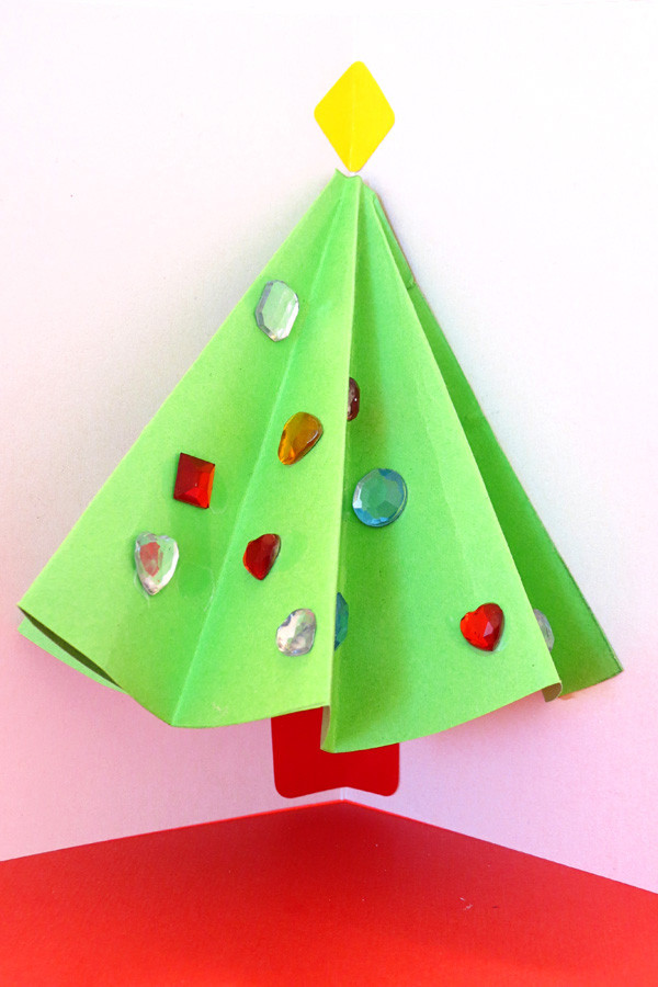 Best ideas about Christmas Art Projects For Toddlers . Save or Pin Pop Up Christmas Tree Card That Kids Can Make Now.