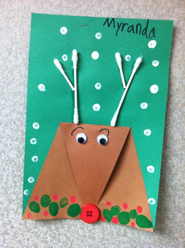 Best ideas about Christmas Art Projects For Toddlers . Save or Pin 20 Reindeer Crafts for Kids Dragonfly Designs Now.
