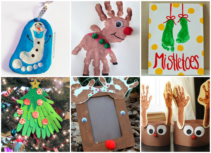 Best ideas about Christmas Arts And Craft Ideas For Preschoolers . Save or Pin 21 Handprint and Footprint Christmas Crafts I Heart Arts Now.