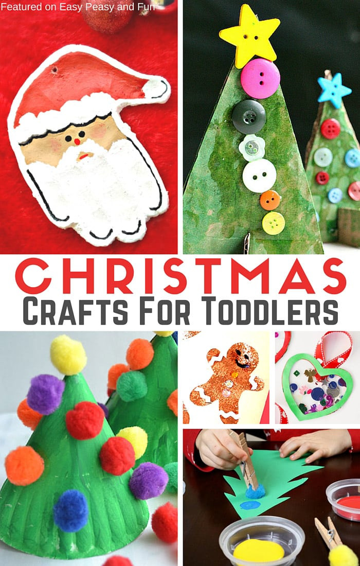 Best ideas about Christmas Arts And Craft Ideas For Preschoolers . Save or Pin Simple Christmas Crafts for Toddlers Easy Peasy and Fun Now.