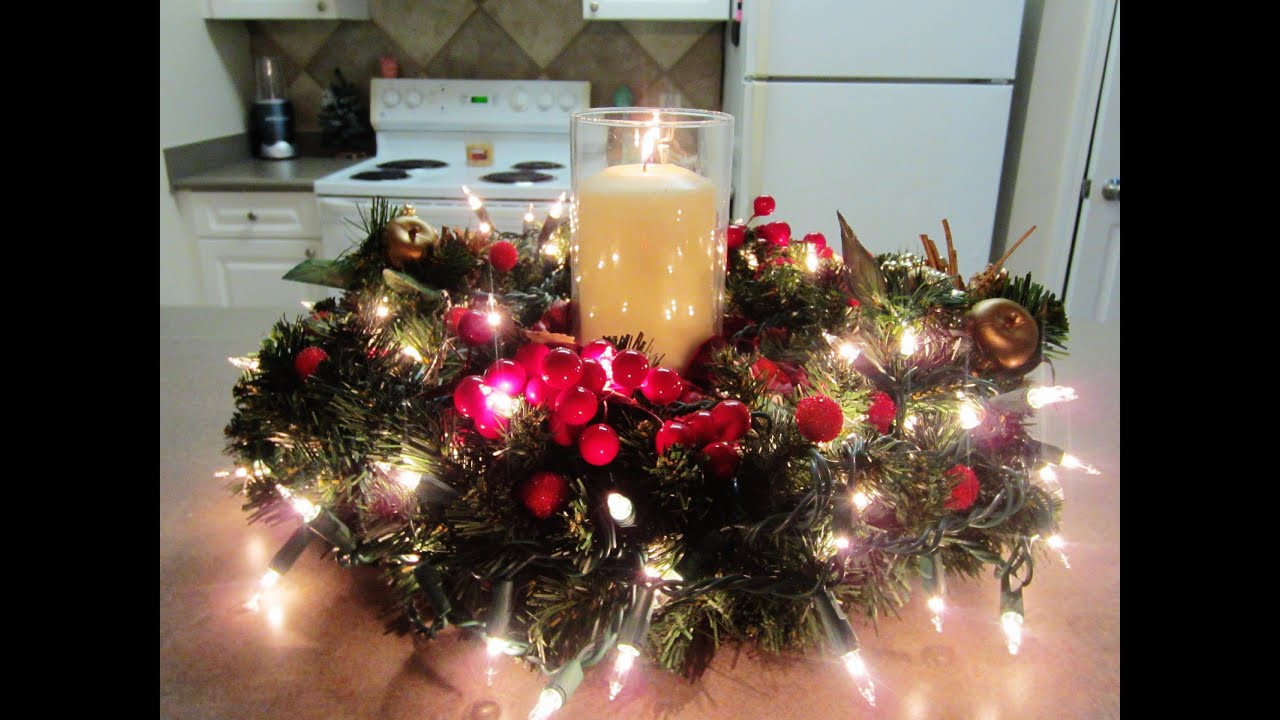 Best ideas about Christmas Centerpiece DIY . Save or Pin DIY Christmas Holiday Centerpiece Now.