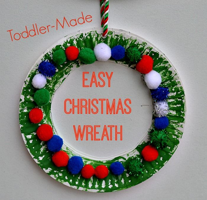 Best ideas about Christmas Craft For Toddlers Pinterest . Save or Pin Easy Christmas Wreath for Kids from Blog Me Mom Now.