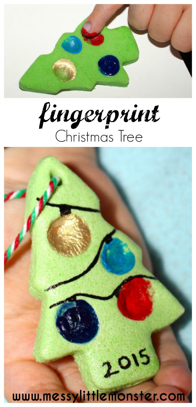 Best ideas about Christmas Craft For Toddlers Pinterest . Save or Pin Salt Dough Fingerprint Christmas Tree Messy Little Monster Now.