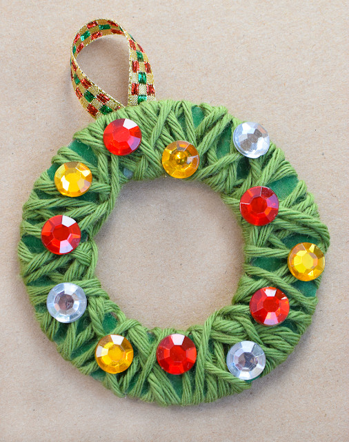 Best ideas about Christmas Craft For Toddlers Pinterest . Save or Pin Yarn Wrapped Christmas Wreath Ornaments Now.