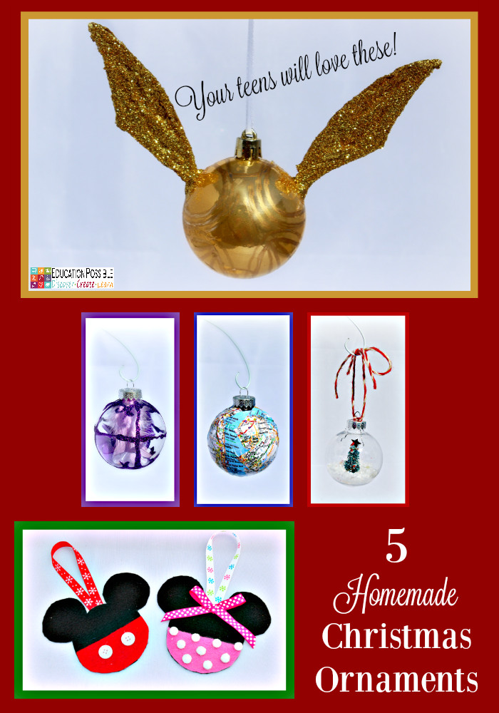 Best ideas about Christmas Crafts For Teen . Save or Pin 5 Homemade Christmas Ornaments Teens will want to Make Now.