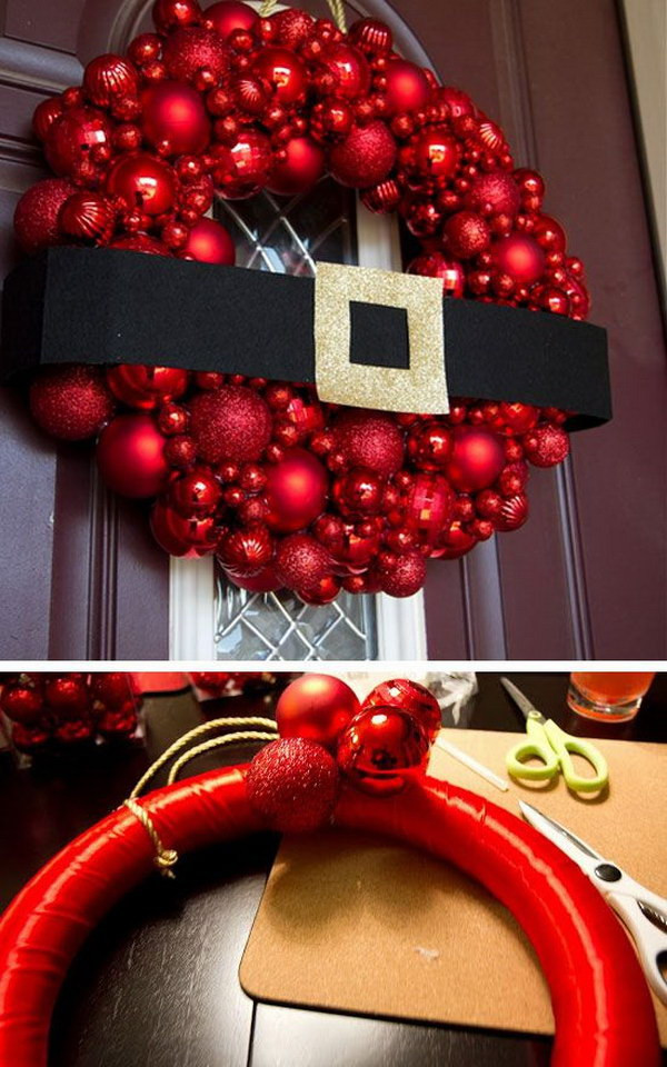 Best ideas about Christmas DIY Decoration Ideas . Save or Pin 20 Creative DIY Christmas Door Decoration Ideas Noted List Now.