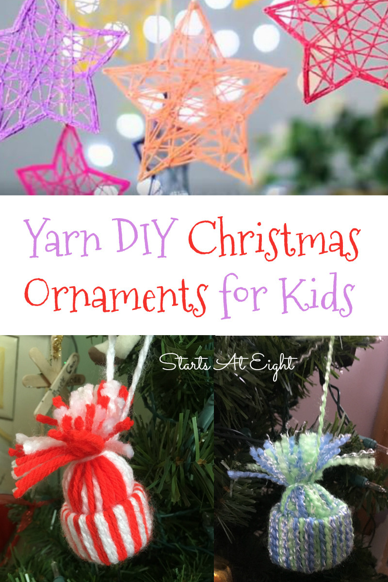 Best ideas about Christmas DIY For Kids . Save or Pin Yarn DIY Christmas Ornaments for Kids StartsAtEight Now.