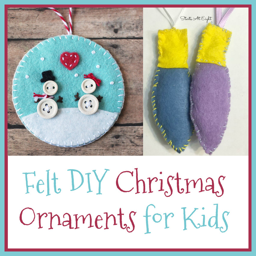 Best ideas about Christmas DIY For Kids . Save or Pin Felt DIY Christmas Ornaments for Kids StartsAtEight Now.