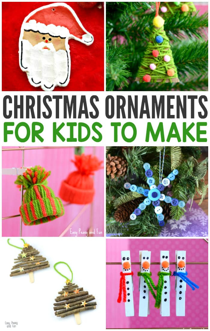 Best ideas about Christmas DIY For Kids . Save or Pin Christmas Ornaments for Kids to Make Easy Peasy and Fun Now.