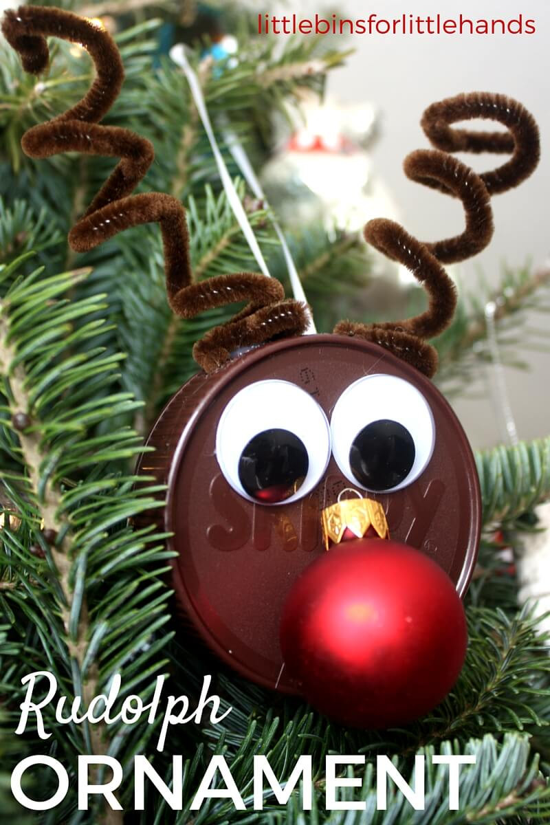Best ideas about Christmas Ornaments Craft Ideas For Kids . Save or Pin Reindeer Ornament for Easy Christmas Craft Activity Now.