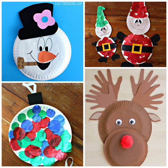 Best ideas about Christmas Ornaments Craft Ideas For Kids . Save or Pin Christmas Paper Plate Crafts for Kids Crafty Morning Now.