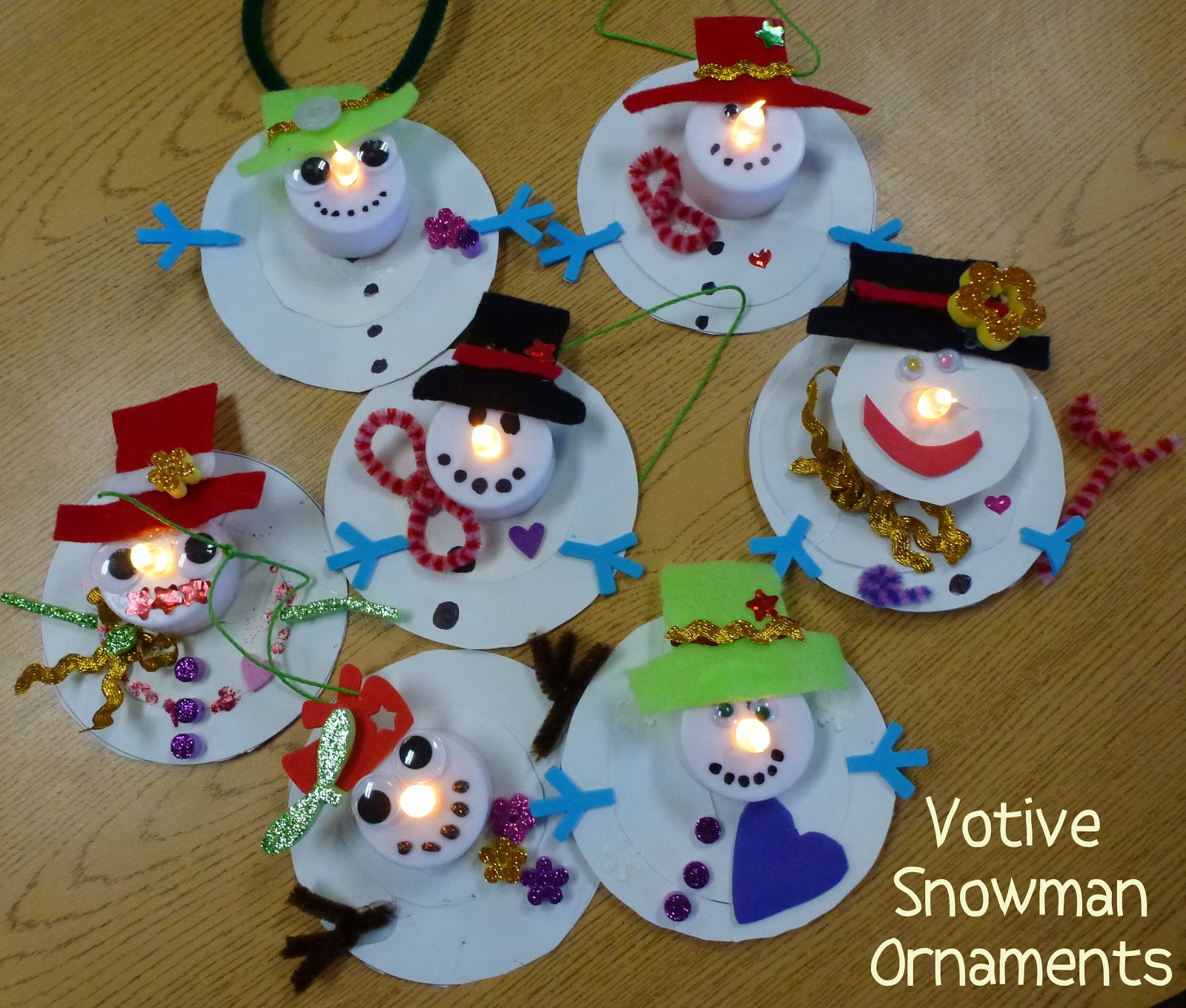Best ideas about Christmas Ornaments Craft Ideas For Kids . Save or Pin Choices for Children Votive Snowman Ornaments Now.