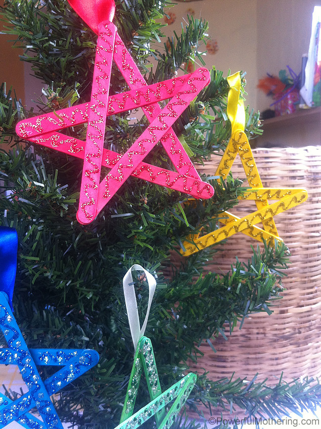 Best ideas about Christmas Ornaments Craft Ideas For Kids . Save or Pin Easy Christmas Crafts for Kids Craft Stick Stars Now.