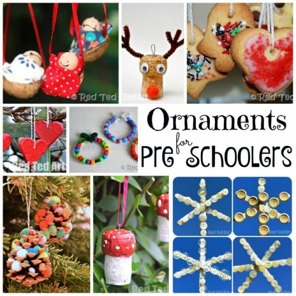 Best ideas about Christmas Ornaments DIY Kids . Save or Pin DIY Christmas Ornaments Red Ted Art s Blog Now.