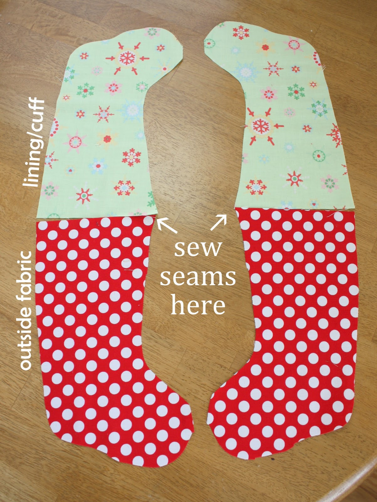Best ideas about Christmas Stockings DIY . Save or Pin Easy DIY Stocking Tutorial Now.