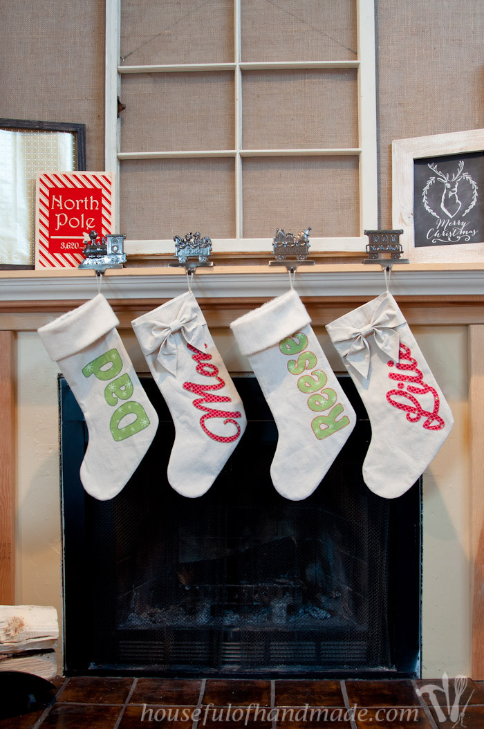 Best ideas about Christmas Stockings DIY . Save or Pin DIY Personalized Drop Cloth Christmas Stockings a Now.