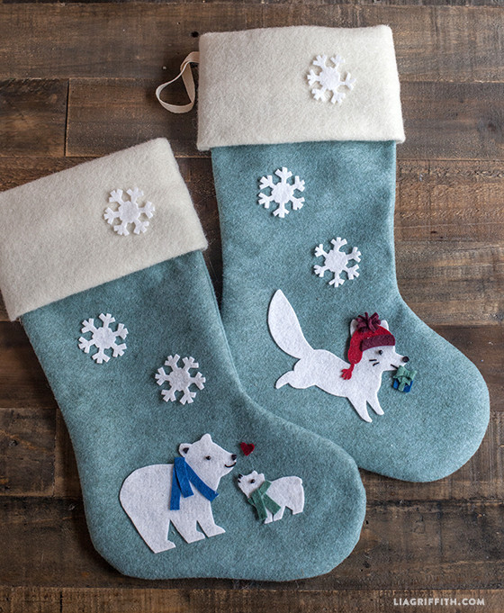 Best ideas about Christmas Stockings DIY . Save or Pin DIY Felt Christmas Stockings Lia Griffith Now.