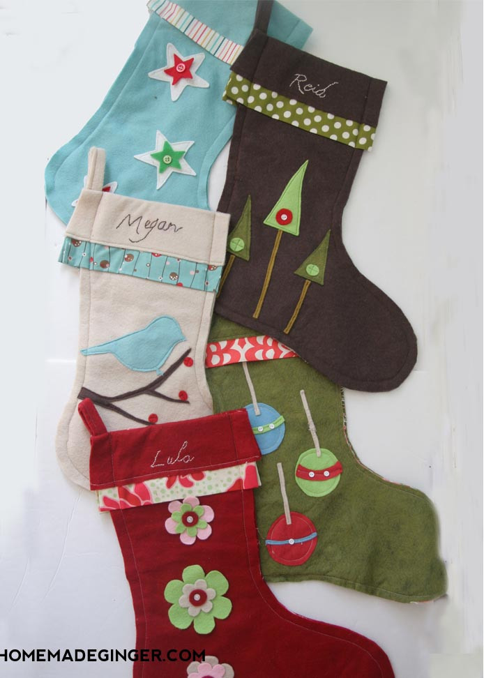 Best ideas about Christmas Stockings DIY . Save or Pin DIY Stockings Homemade Ginger Now.