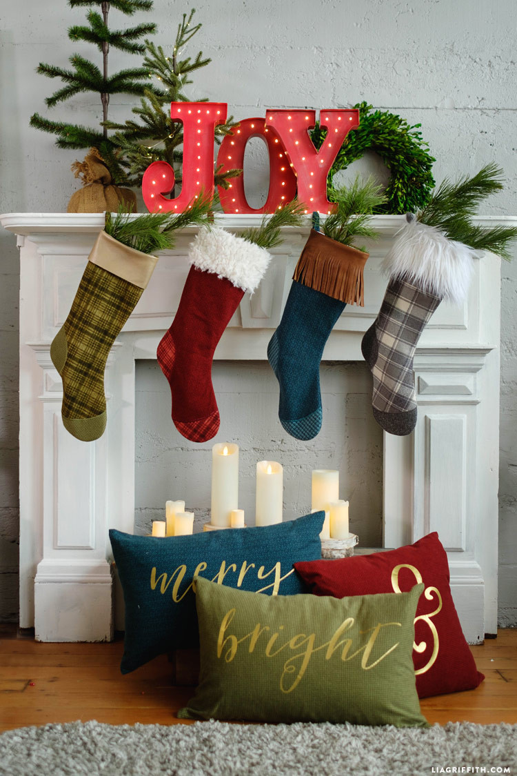 Best ideas about Christmas Stockings DIY . Save or Pin DIY Christmas Stockings Tutorial Now.