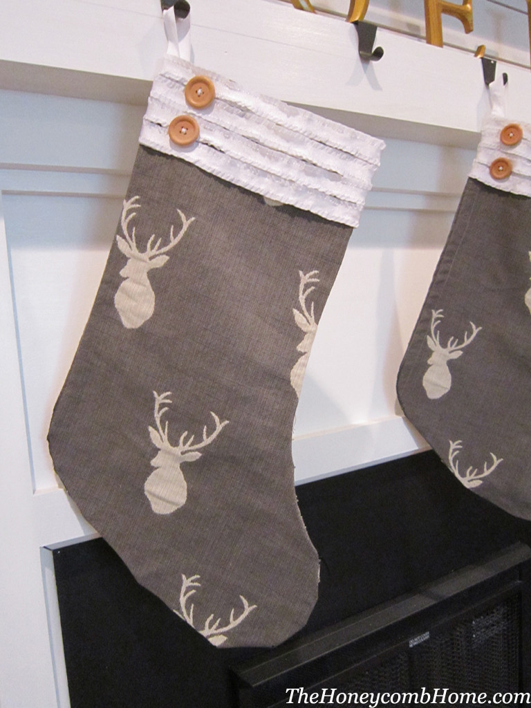 Best ideas about Christmas Stockings DIY . Save or Pin No Sew Christmas Stocking Now.