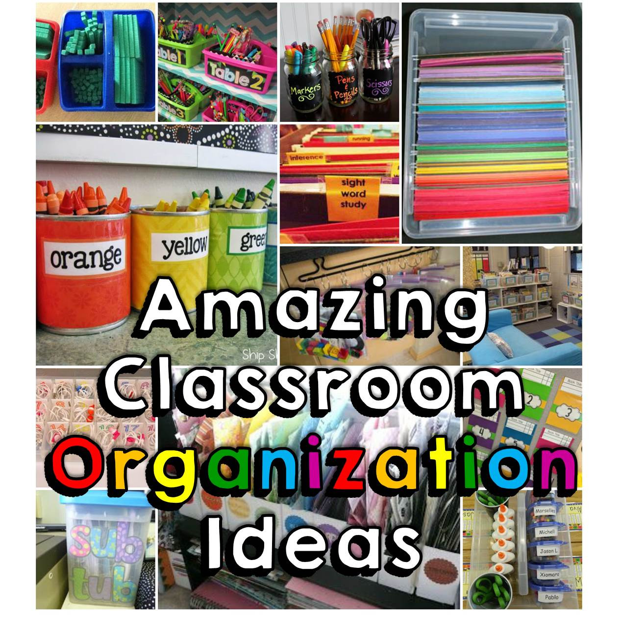 Best ideas about Classroom Storage Ideas . Save or Pin 18 Amazing Classroom Organization Tips & Tricks Happy Now.