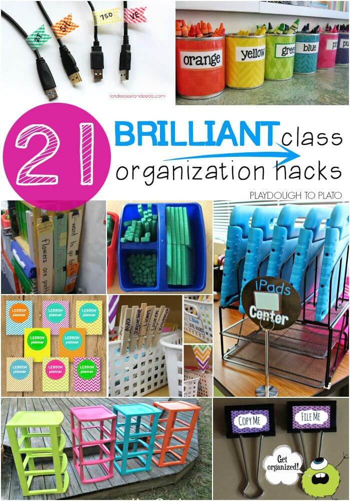 Best ideas about Classroom Storage Ideas . Save or Pin 21 Brilliant Classroom Organization Hacks Playdough To Plato Now.