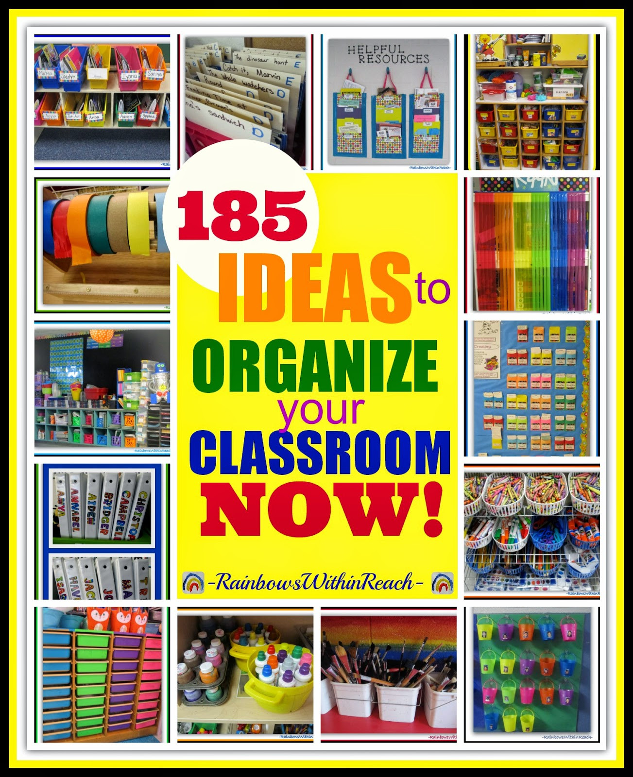 Best ideas about Classroom Storage Ideas . Save or Pin RainbowsWithinReach 185 Ideas for Classroom Organization Now.