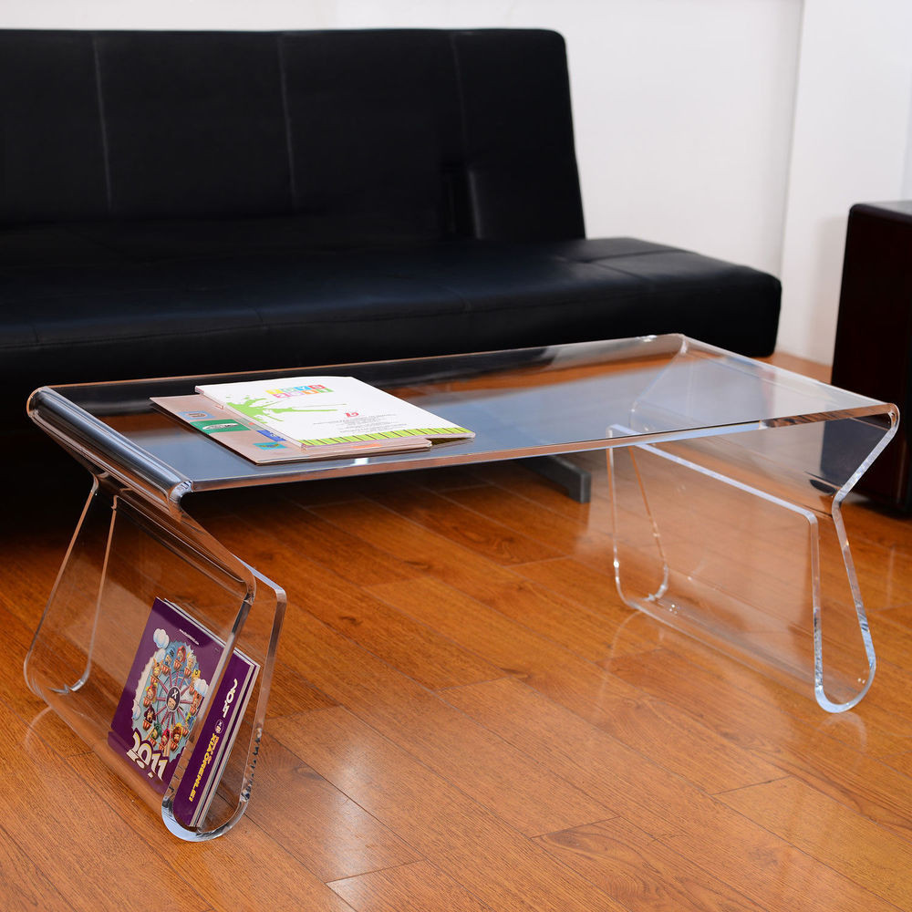 "Best ideas about Clear Coffee Table . Save or Pin 38"" Modern Portable Acrylic Lucite Carrying Tray Side End Now."
