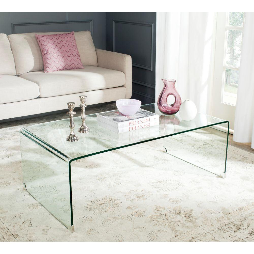 Best ideas about Clear Coffee Table . Save or Pin Safavieh Willow Clear Coffee Table FOX6014A The Home Depot Now.