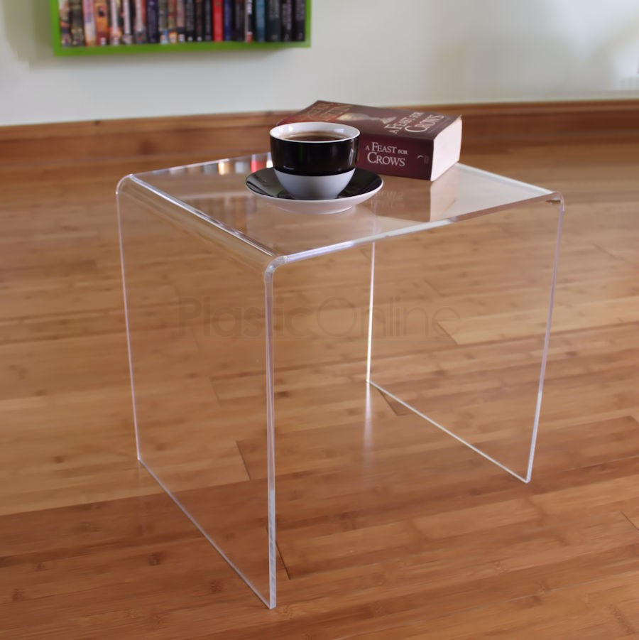 Best ideas about Clear Coffee Table . Save or Pin Clear Acrylic Plastic Table Bedside Table Coffee Table Now.