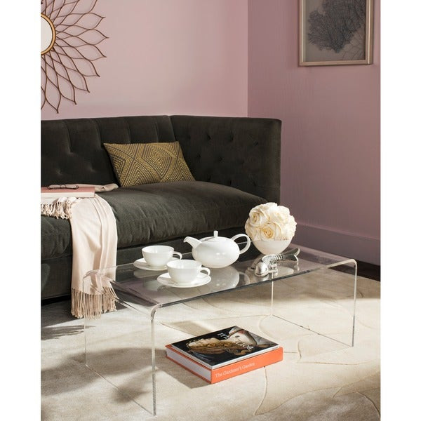 Best ideas about Clear Coffee Table . Save or Pin Shop Safavieh Atka Clear Acrylic Coffee Table Free Now.