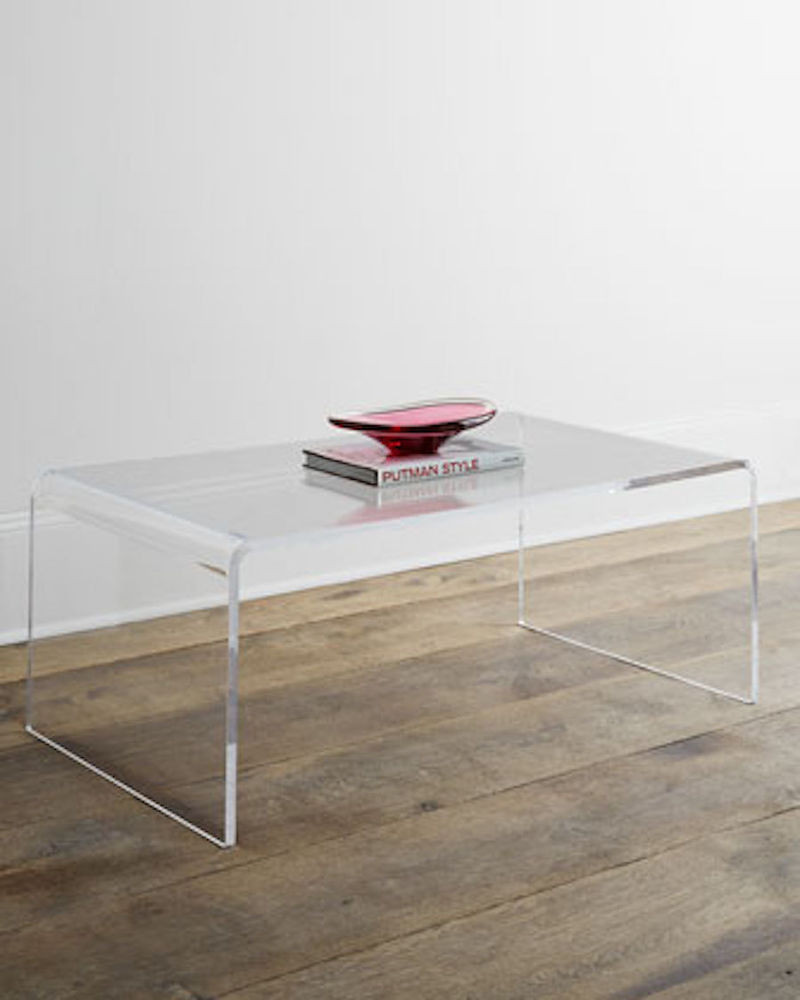 Best ideas about Clear Coffee Table . Save or Pin Waterfall Clear Modern Designer Transparent Acrylic Coffee Now.