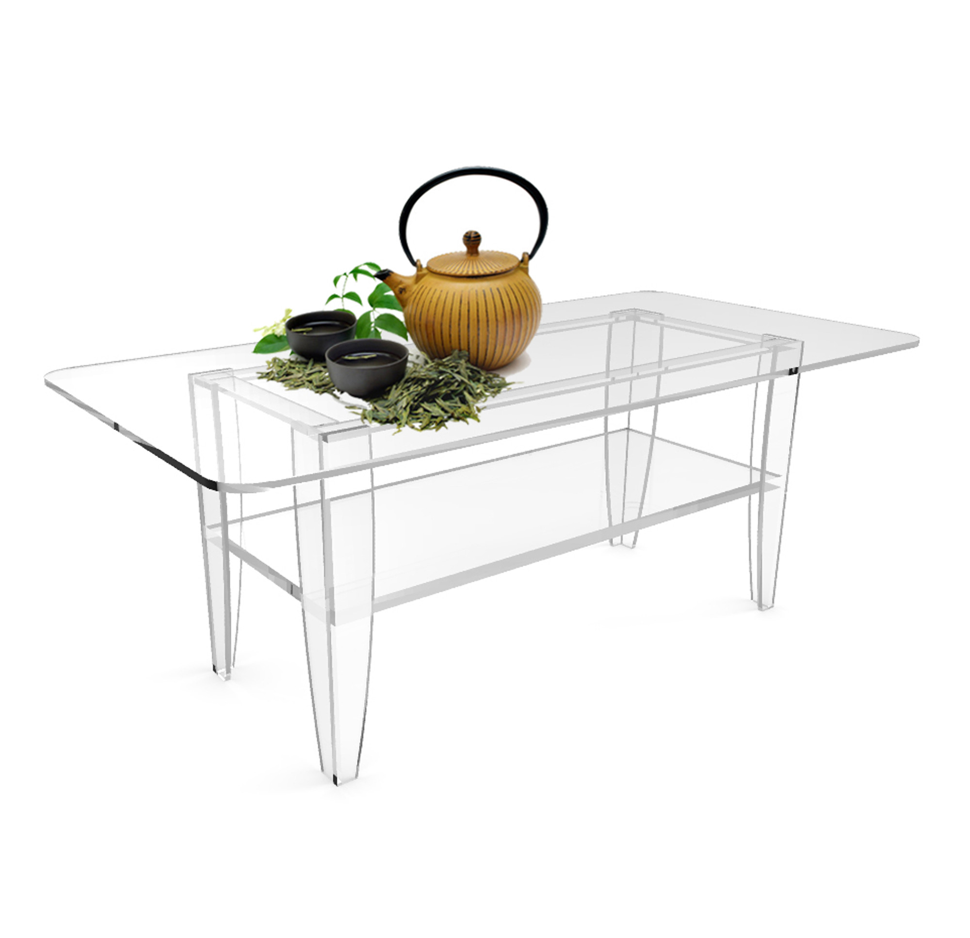 Best ideas about Clear Coffee Table . Save or Pin All Clear Coffee Table Plexiglass Frame Glass Tops Now.